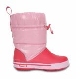 Crocs™ Kids' Crocband Gust Boot Iridescent Ballerina Pink/Poppy