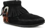 Minnetonka Concho Feather Boot Black