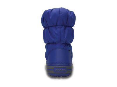 Crocs™ Kids' Winter Puff Boot Cerulean Blue/Light Grey