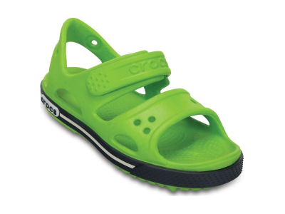 Crocs™ Kids' Crocband II Sandal PS Volt Green/Navy