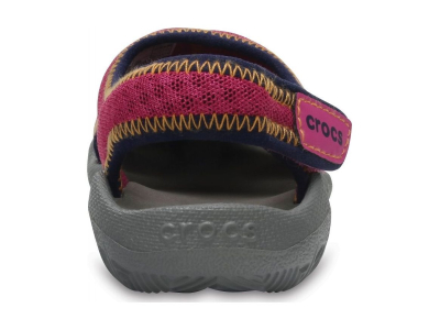 Crocs™ Kids' Swiftwater Mesh Sandal Neon Pink/Smoke