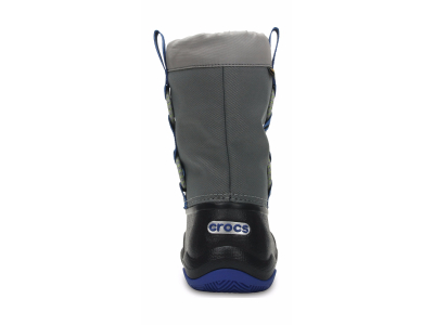 Crocs™ Swiftwater Waterproof Boot Kid's Black/Blue Jean