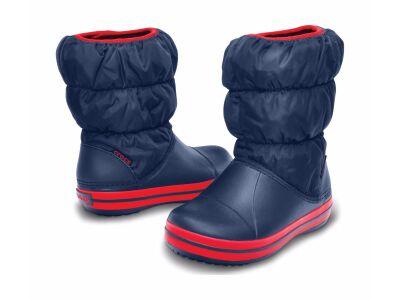 Crocs™ Kids' Winter Puff Boot Tume sinine/Punane