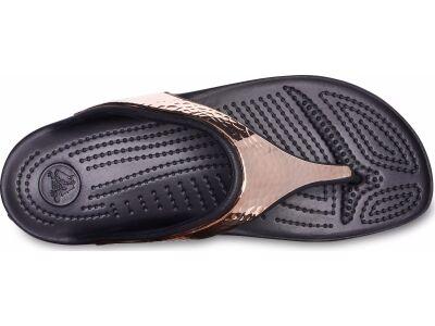 be748acf2fb ... Crocs™ Sloane Hammered Metallic Flip Black/Rose Gold ...