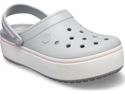 Crocs™ Crocband Platform Clog Light Grey/Rose
