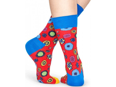 Happy Socks Flower Power Sock Red/Multi