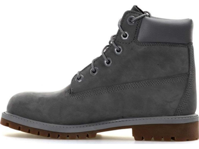 Timberland 6 In Premium Boot Junior's Dark Grey Nubuck