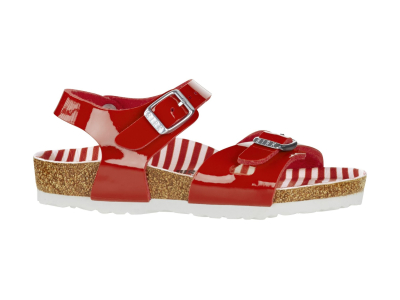 Birkenstock Rio Kids Nautical Stripes Red