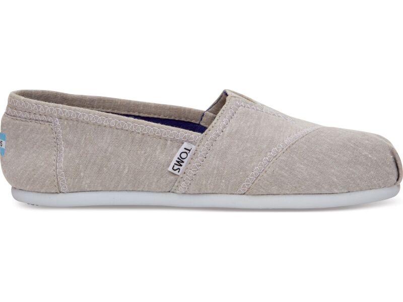 TOMS Jersey Women's Alpargata Light Grey