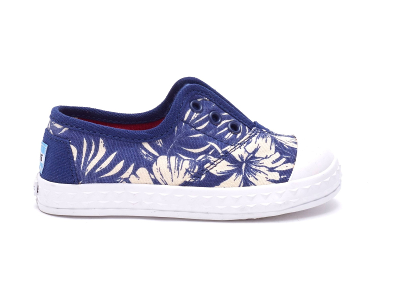 TOMS Canvas Floral Kid's Zuma Sneaker Blue