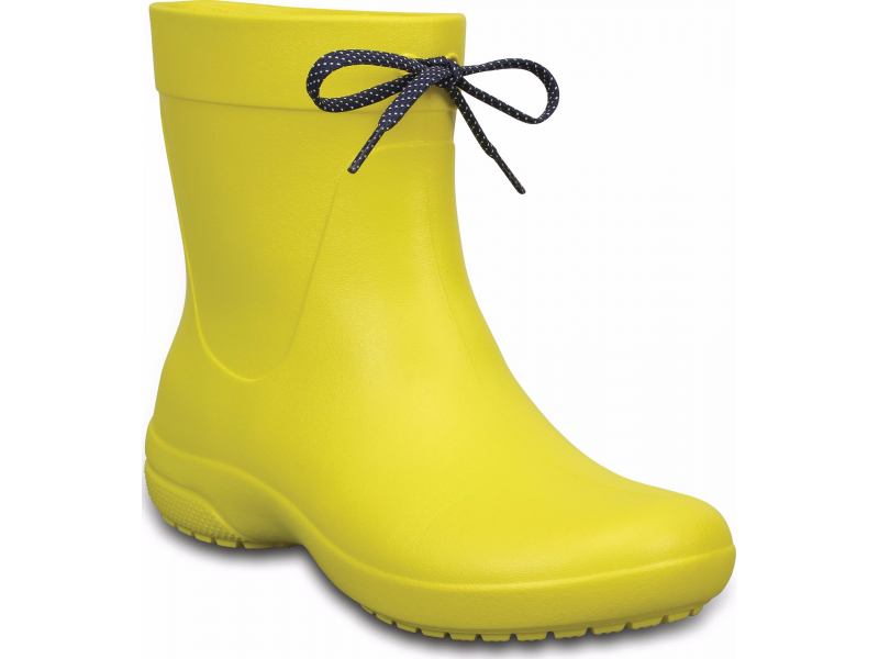 Crocs™ Freesail Shorty Rain Boot Lemon