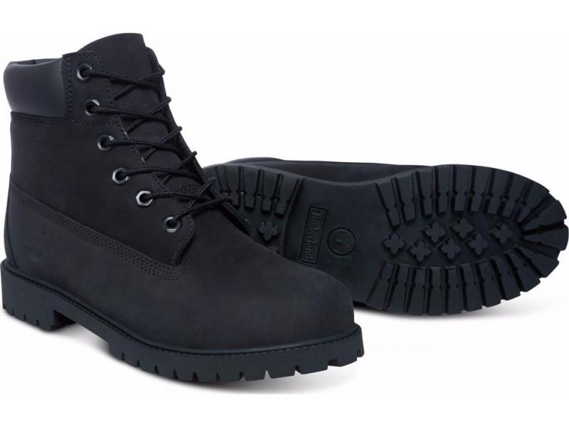 Timberland 6 In Premium Boot Junior's Black Nubuck