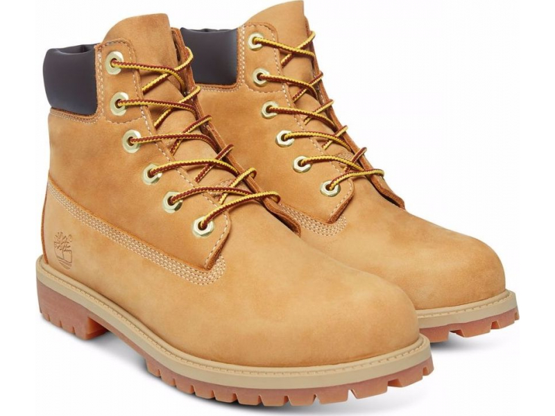 Timberland 6 In Premium Boot Junior's Wheat Nubuck