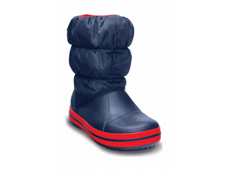 Crocs™ Kids' Winter Puff Boot Tume sinine/Punane