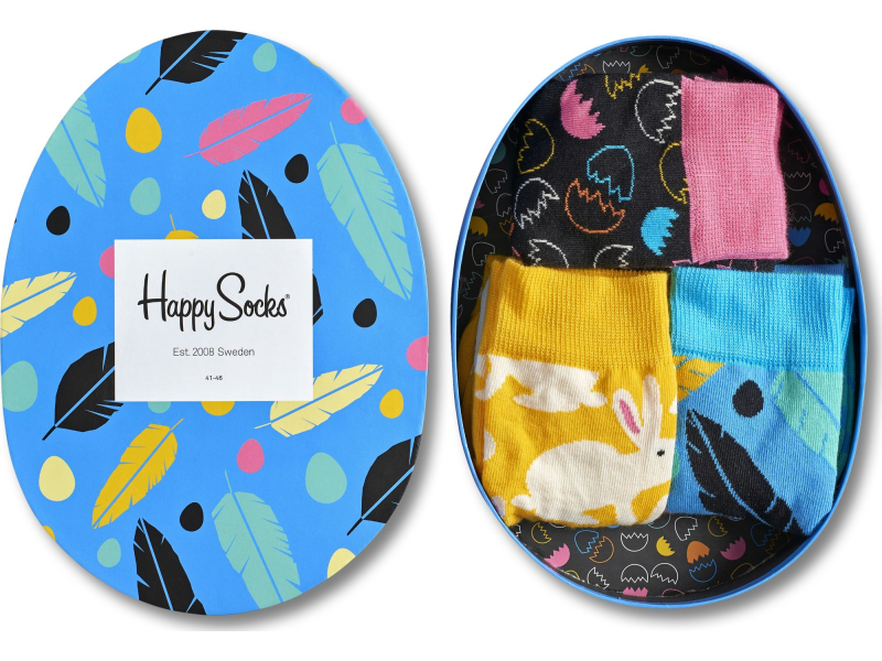 Happy Socks Easter Gift Box Black/Yellow/Blue