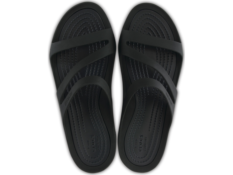 Crocs™ Women's Swiftwater Sandal Black/Black
