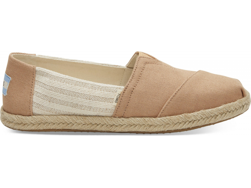TOMS Canvas Ivy League on Rope Women's Alpargata Honey