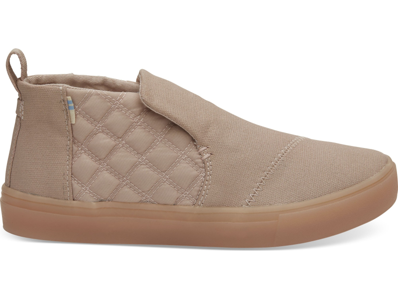 TOMS Canvas Quilted Nylon Women's Paxton Slipon Dark Blush Textural