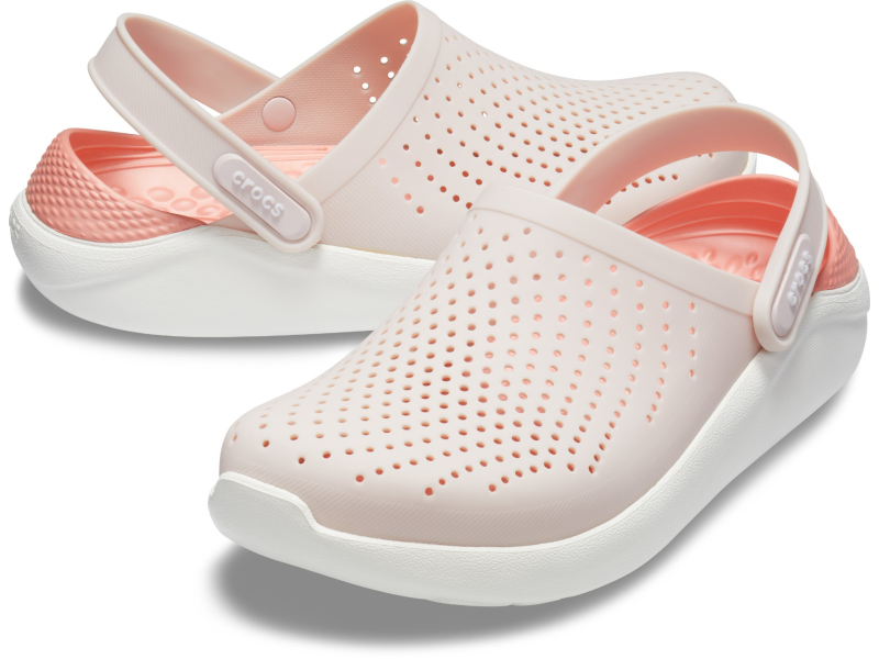 Crocs™ LiteRide Clog Barely Pink/White