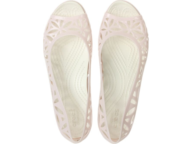 Crocs™ Isabella Jelly II Flat Barely Pink/Oyster