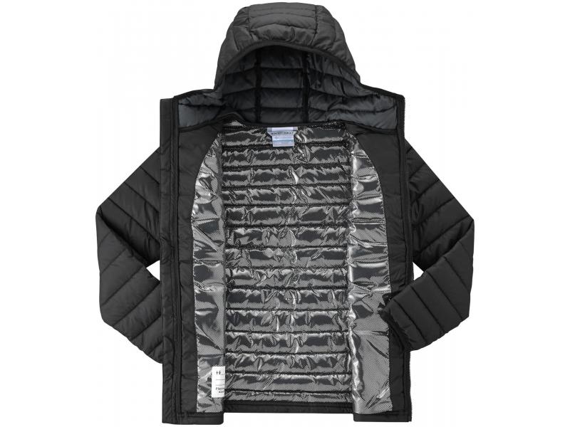 Columbia Powder Lite Boys Hooded Jacket Black