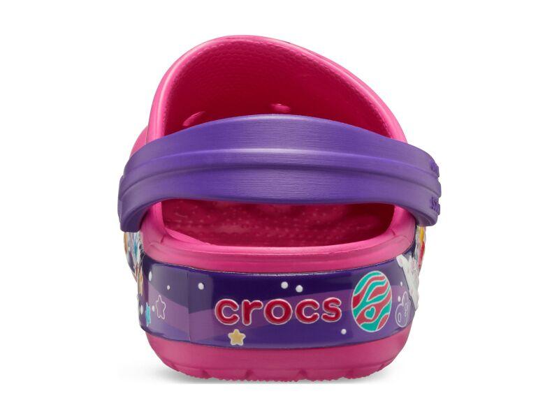 Crocs™ FunLab Galactic Hearts Clog Girl's Fuchsia