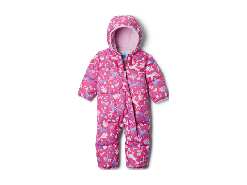 Columbia Snuggly Bunny Bunting Pink Ice Reindeer/Pink Clover