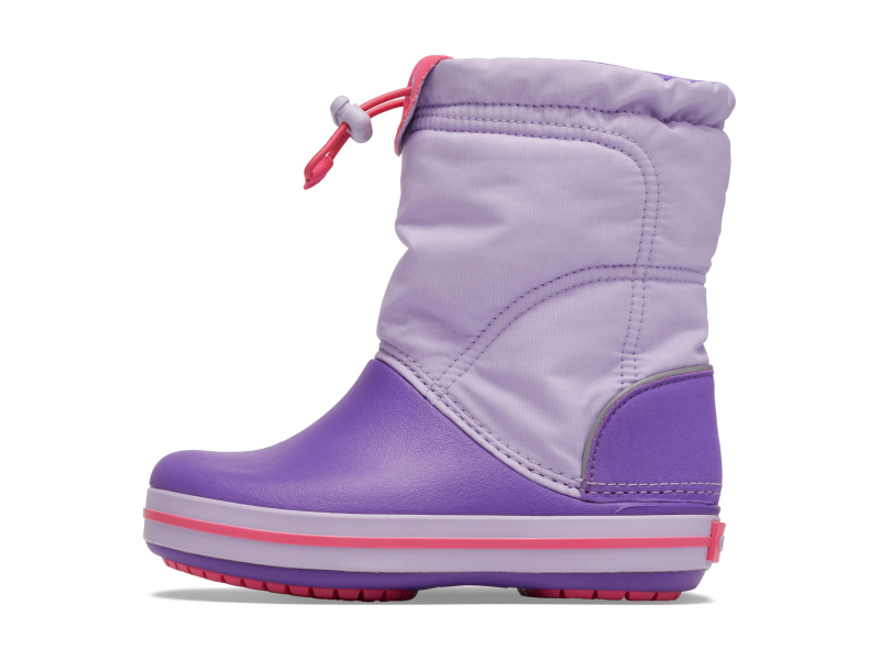Crocs™ Kids' Crocband Lodgepoint Boot Lavender/Neon Purple