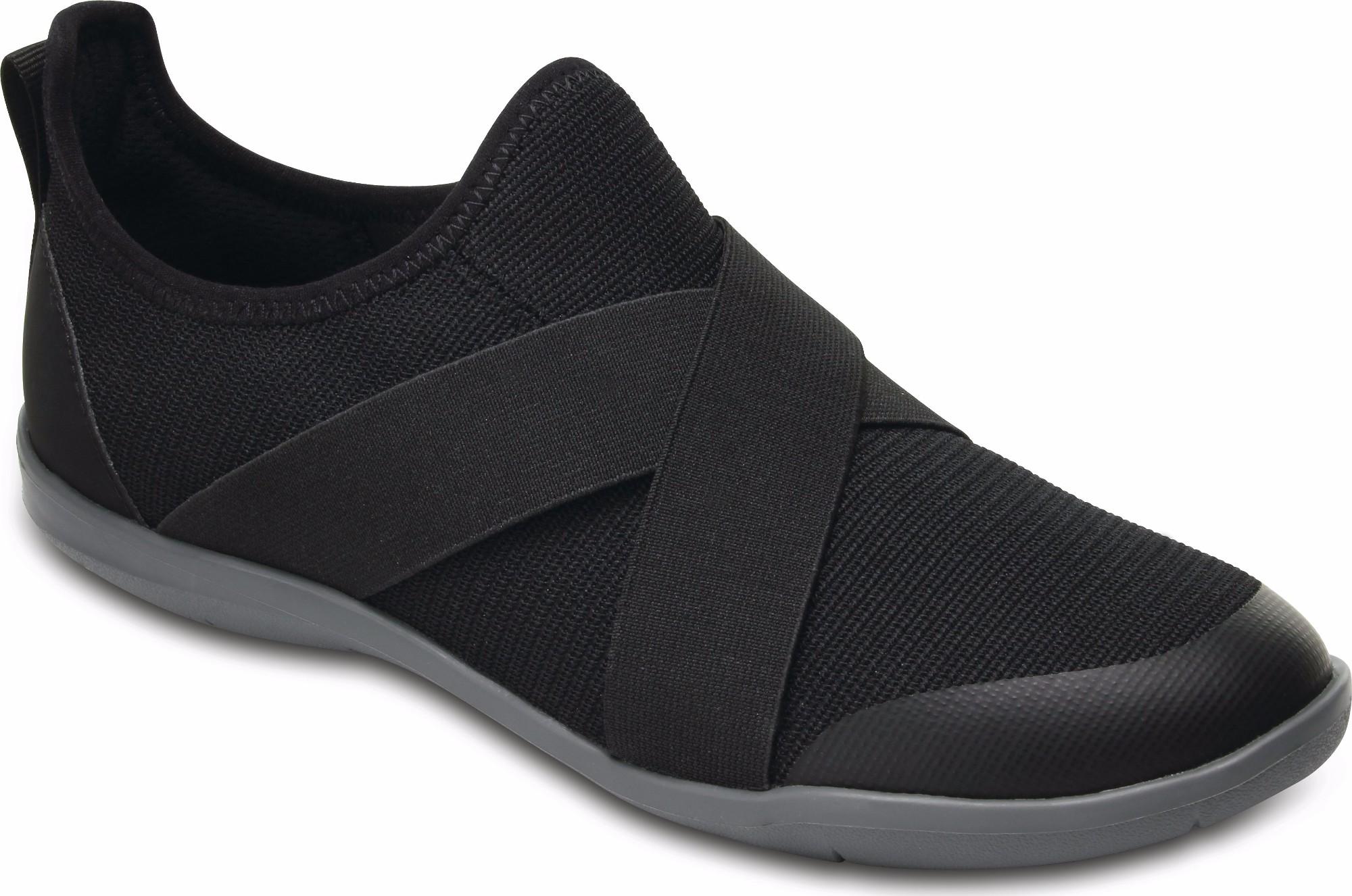 Frauen Swiftwater Cross-Strap Static Clog Schuhe, EUR: 38.5, Black Crocs