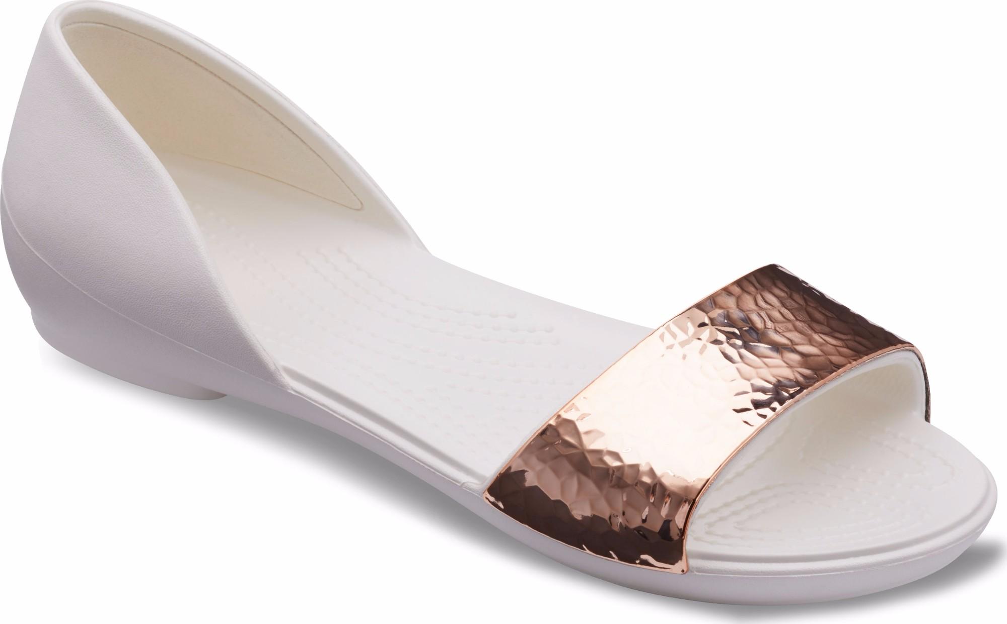 932d717b409 Crocs™ Lina Dorsay Hammered Metallic Flat | OPEN24.EE