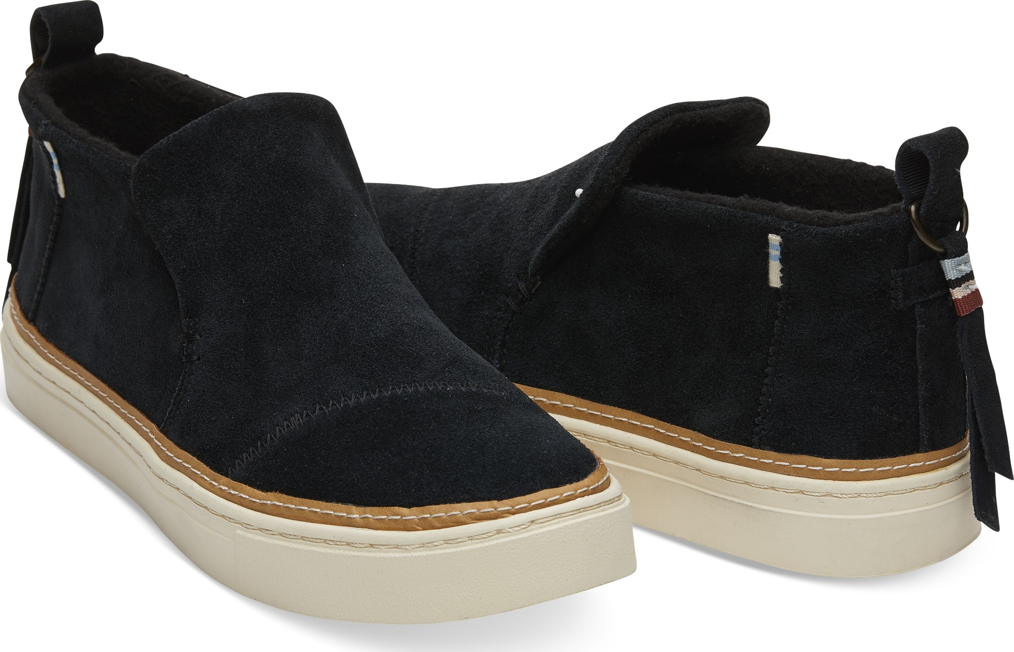 79fc5bc78f0 ... Black TOMS Suede Water Resistant Women s Paxton Slipon ...