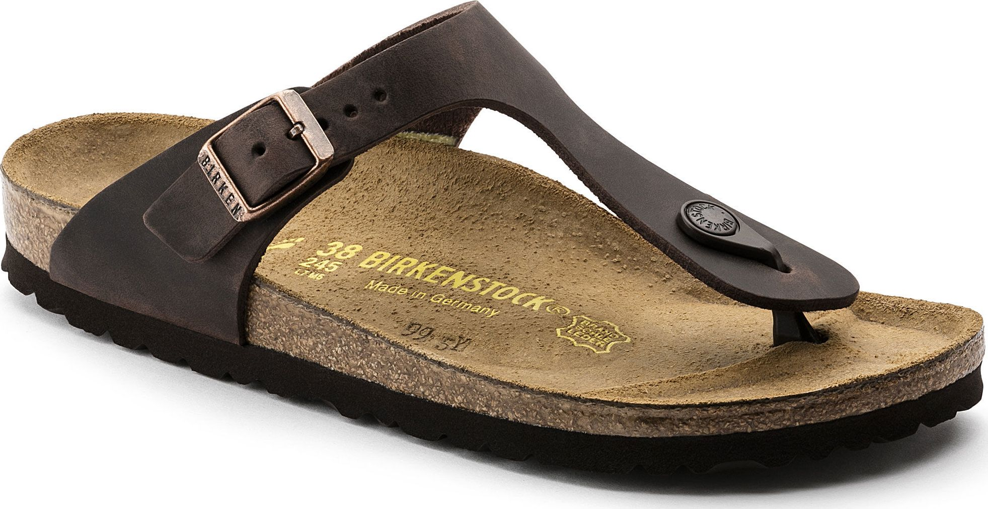 7d9f51e34079 Birkenstock Gizeh Oiled Leather
