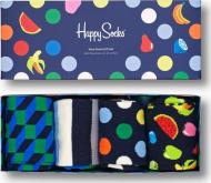 Happy Socks 4-Pack Navy Socks Gift Set Multi 6600