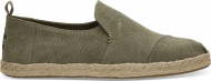 TOMS Washed Canvas Men's Deconstructed Alpargata Rope Olive