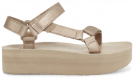 Teva Flatform Universal Leather Women's Metallic Champagne