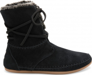 TOMS Suede Faux Hair Women's Zahara Bootie Black
