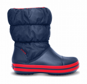 Crocs™ Kids' Winter Puff Boot Tamsiai mėlyna/Raudona