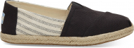 TOMS Canvas Ivy League on Rope Women's Alpargata Black