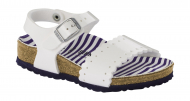 Birkenstock Risa Kids Nautical Stripes White