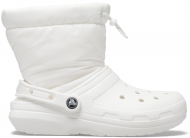 Crocs™ Classic Lined Neo Puff Boot White/White