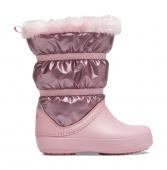 Crocs™ Crocband LodgePoint Metallic Boot Girl's Rose Gold Metallic
