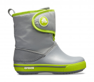 Crocs™ Kids' Crocband II.5 Gust Boot Charcoal/Volt Green