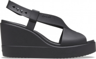 Crocs™ Brooklyn High Wedge Womens Black/Black