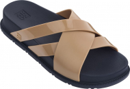 ZAXY Flat Days Slide Beige/Navy