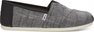 TOMS Textured Chambray Trim Men's Alpargata Black