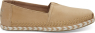 TOMS Leather Rope Sole Women's Alpargata Honey