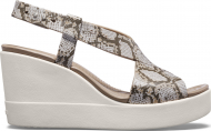 Crocs™ Brooklyn High Wedge Womens Multi/Stucco